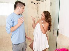 Brandii takes a shower with her son's preeminent friend