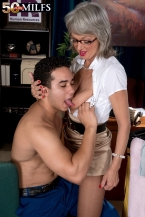 The lustful boss femdom-goddess and the cleaning man