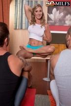 Three-way In The Yoga Studio