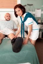 Nurse Kim heals the sick, fucks the biggest hard-on