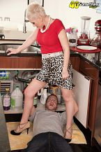 Kimber, the plumber and her cuckold hubby