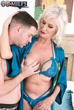 Leah can not stop rogering youthful rod!