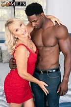 Sandy Pierce screws a large, black cock