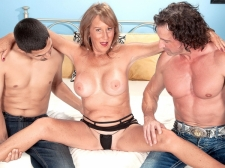 Trisha acquires ass-fucked by two lads and swallows