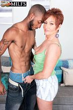 Young, black schlong for HORNY HOUSEWIFE Ruby O'Connor